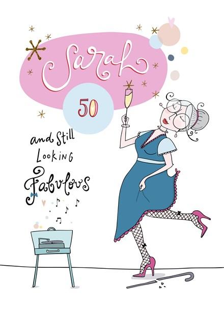 Super Kaarten - verjaardag leeftijden - verjaardagskaart 50 jaar | Hallmark IE-29