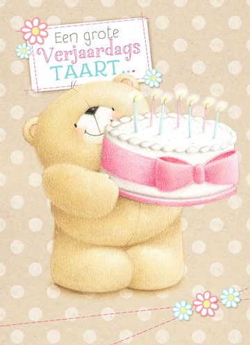- beer-met-verjaardagstaart