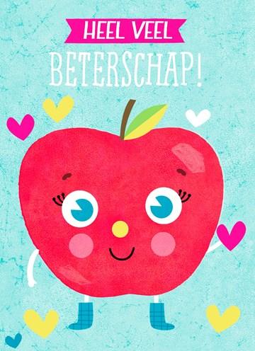 Beterschapskaart - Beterschapskaart-appel-heel-veel-beterschap