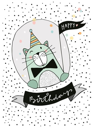 Verjaardagskaart kids - Happy-Birthday-Cat