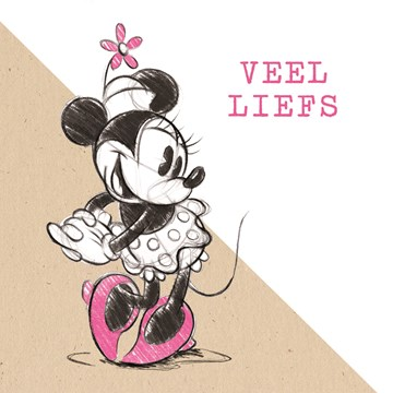 Valentijnskaart - valentijnskaart-veel-liefs-minnie