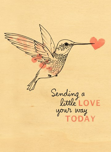 - Houten-kaart-Kolibrie-Sending-a-little-love-your-way-today