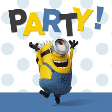 Uitnodiging kaart - carl-party-minions