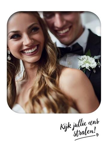 Huwelijkskaart - kijken-jullie-eens-stralen