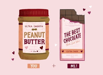 valentijnskaart - you-and-me-is-like-peanut-butter-and-the-best-chocolate