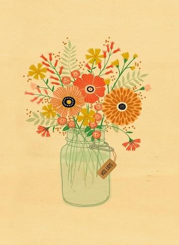 verjaardagskaart vrouw - houten-kaart-vaas-met-bloemen
