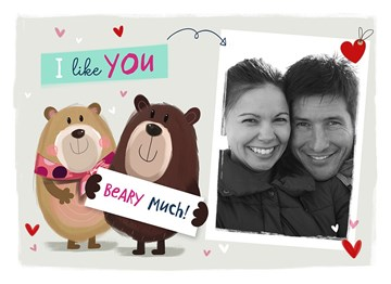 valentijnskaart - i-like-you-beary-much