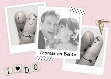 Huwelijkskaart met foto - fotokaart-liggend-huwelijk-i-do