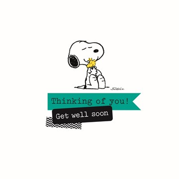 Snoopy kaart - snoopy-is-thinking-of-you