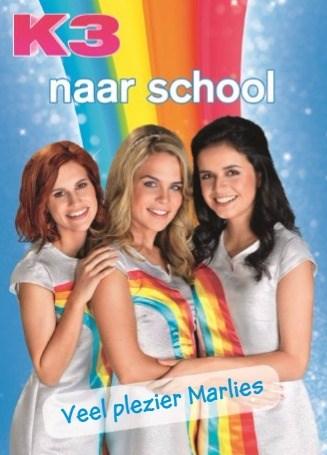 Back to School kaart - back-to-school-studio-100-k3-naar-school