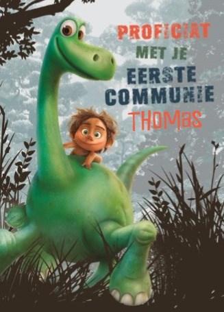 Communie kaart - disney-the-good-dinosaur-kaart-voor-je-eerste-communie