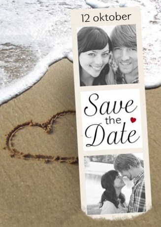 Uitnodiging maken - fotokaart-save-the-date-strand