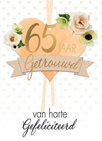 Huwelijkskaart - Huwelijkskaart-65-jaar-getrouwd-hart