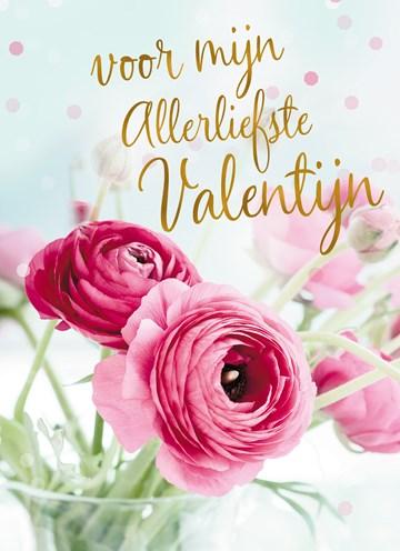 valentijnskaart - Valentijnskaart-Romantisch-bloemen-vor-mijn-allerliefste-valentijn
