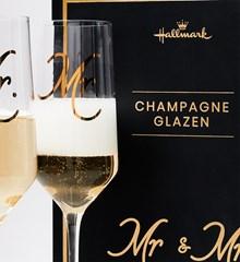 Champagneglazen Mr & Mr