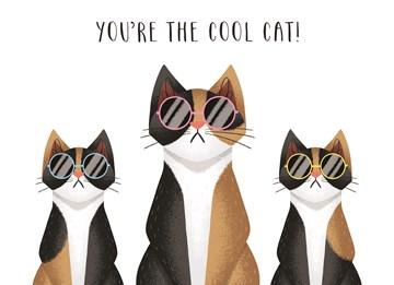 Liefde kaart - Vriendschapskaart - cool-cat