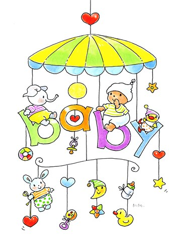 Bobbi Beer kaart - baby-rammelaar