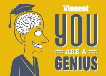 School / Geslaagd kaart - you-are-a-genius