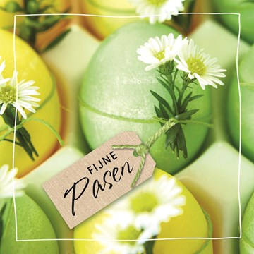 - groene-paaskaart-met-paaseieren-en-kleine-witte-bloemen-fijne-pasen
