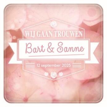 - wij-gaan-trouwen-roze-bloemen