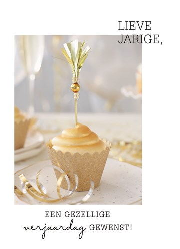 Verjaardagskaart vrouw - mooi-versierd-taartje