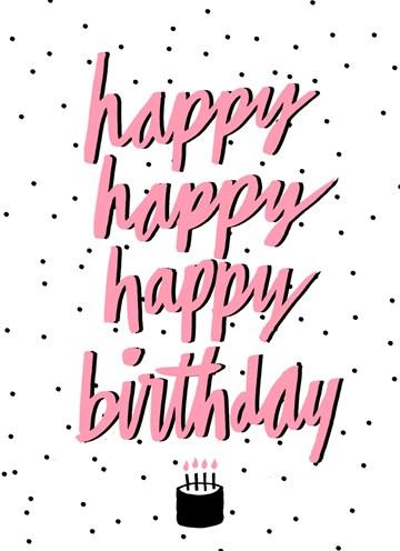 Verjaardagskaart vrouw - happy-happy-happy-happy-birthday