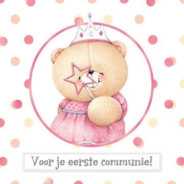 Communie kaart - forever-friends-feltie-beertje-communie