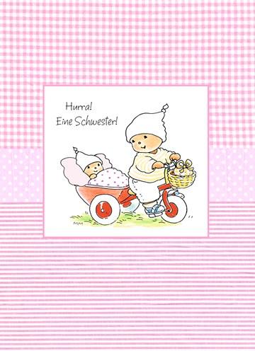 Bobbi Beer kaart - hurra-eine-schwester