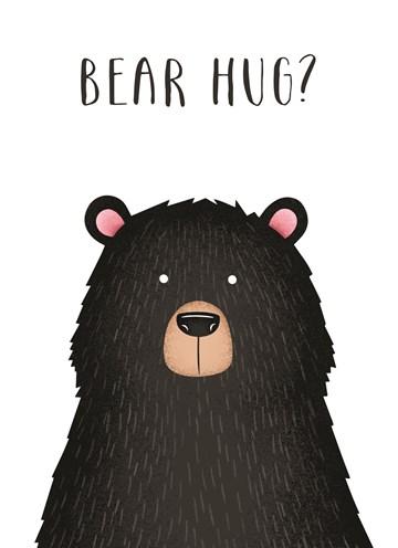 Beterschapskaart - -zwarte-beer