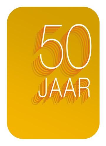 - Verjaardagskaart-50-jaar-okergeel