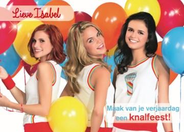 Verjaardagskaart kids - nieuwe-k3-ballonnen