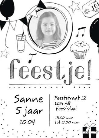 Kaarten Uitnodiging Kinderfeest Meisje Hallmark