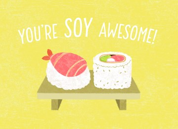 valentijnskaart - Valentijnskaart-grappig-Youre-soy-awesome