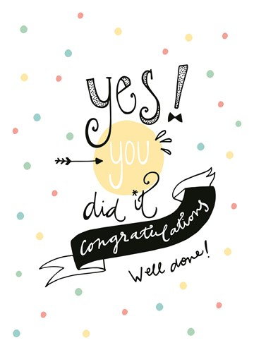 - funny-side-up-kaart-met-de-tekst-yes-you-did-it-congratulations-well-done