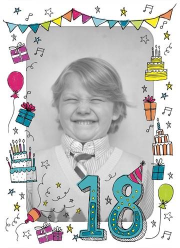 Hedendaags Kaarten Verjaardag leeftijden - 18 jaar | Hallmark QT-24