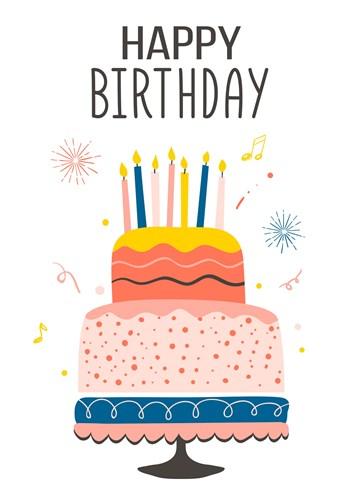 - Verjaardagskaart-tiener-meisje-taart-met-kaarsjes