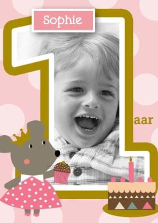 Verjaardagskaarten leeftijd - fotokaart-kids-meisje-jarig