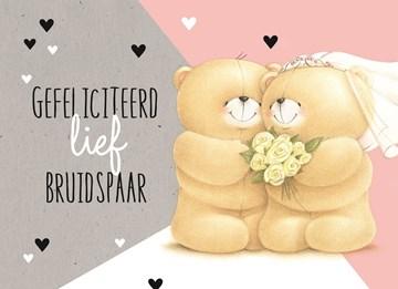 Huwelijkskaart - forever-friends-gefeliciteerd-lief-bruidspaar