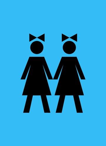 Boomerang kaart - bruiden-op-blauwe-huwelijkskaart