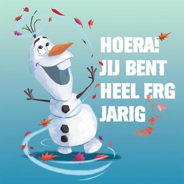 wenskaarten - Verjaardagskaart-Disney-Frozen-2-Olaf-jij-bent-heel-erg-jarig