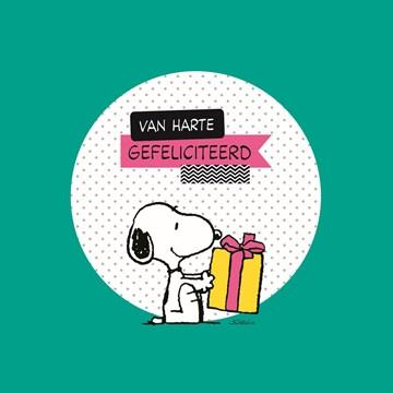 Snoopy kaart - snoopy-feliciteerd-je