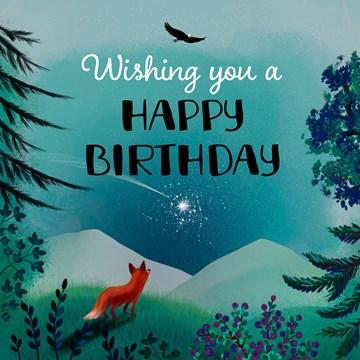 - verjaardagskaart-man-vrouw-tiener-vos-met-vallende-ster