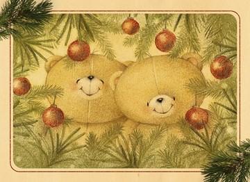 Kerstkaart - beren-tussen-de-boom