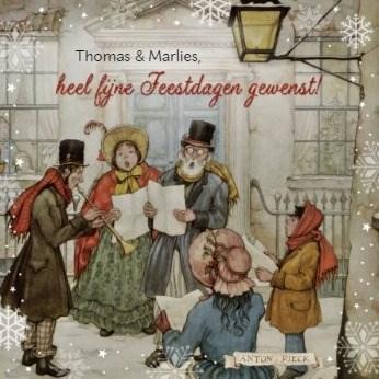 Kerstkaart - anton-pieck-kerst-heel-fijne-feestdagen-gewenst