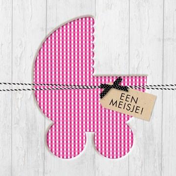 - kinderwagen-met-roze-en-witte-ruitjes
