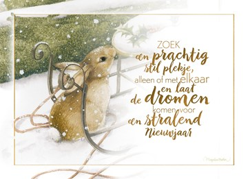 - nieuwjaarskaart-Marjolein-Bastin-konijn-in-sneeuw