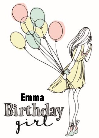 Verjaardagskaart meiden - birthday-girl-ballonnen-hip