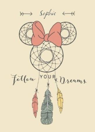 Disney kaart - disney-adult-follow-your-dreams