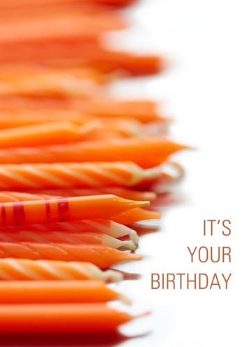 Zakelijke verjaardagskaart - Verjaardagskaarsjes