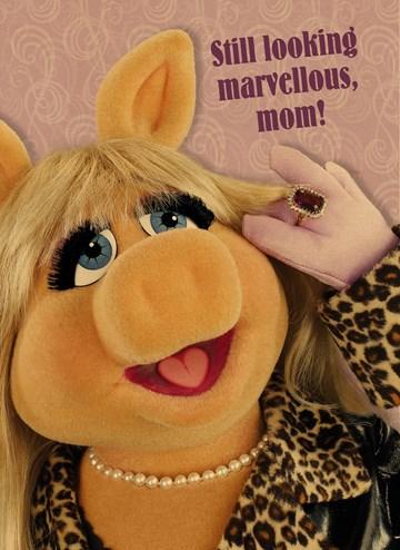 - Houten-kaart-Vrouw-grappig-Miss-piggy